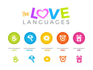 Five Love language. Vector Illustration