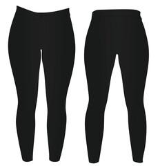 Women black pants. vector illustration
