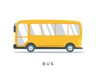 The Yellow School Bus. Isolated Vector Illustration