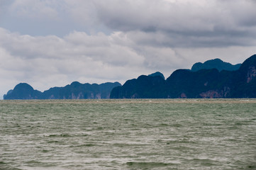 Panoramic view of Pang Nga Bay, Thailand, Asia