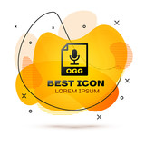 Color OGG file document icon  Download ogg button icon isolated on
