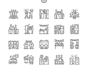 European Neighbours Day Well-crafted Pixel Perfect Vector Thin Line Icons 30 2x Grid for Web Graphics and Apps. Simple Minimal Pictogram