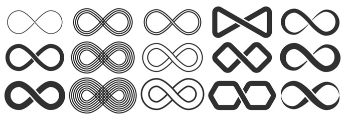 Infinity symbol. Symbol of repetition and unlimited cyclicity.