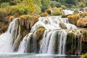 Krka, Sibenik, Croatia - Never-ending cataract through Krka National Park