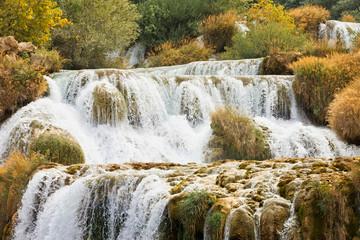 Krka, Sibenik, Croatia - Experiencing the strenght of water at the cataract of Krka