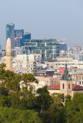 View on Jaffa and the Skyline of Tel Aviv, Israel