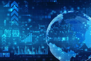 Stock market graph. Abstract finance background, Global business background, Financial Background