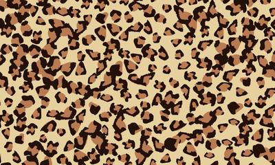Leopard print design. Animal skin pattern.