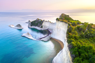 Tuinposter Kust Beautiful view of Cape Drastis in the island of Corfu in Greece