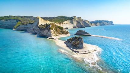 Beautiful view of Cape Drastis in the island of Corfu in Greece Fototapete