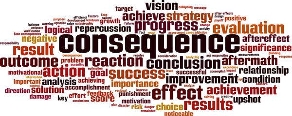 Consequence word cloud