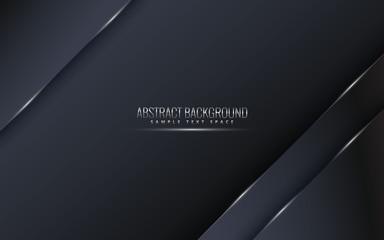 Black premium background with luxury dark.  luxury silver platinum lines vector. Rich background for poster premium triangles design - Vector