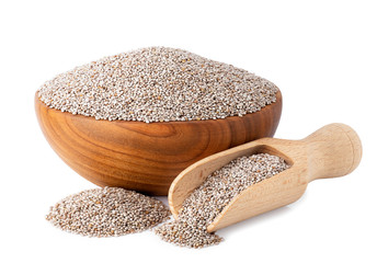 white chia seeds in bowl