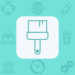 Paint brush vector icon sign symbol