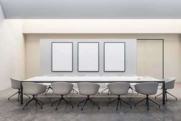 Contemporary white meeting room