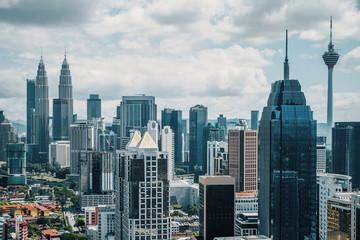 Fototapete - Creative Kuala Lumpur city wallpaper