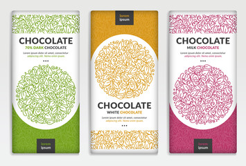 Colorful packaging design of chocolate bars. Vintage vector ornament template. Elegant, classic elements. Great for food, drink and other package types. Can be used for background and wallpaper. Wall mural