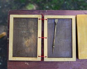 Roman wax tablet