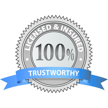 100% Trustworthy Licensed & Insured Emblem