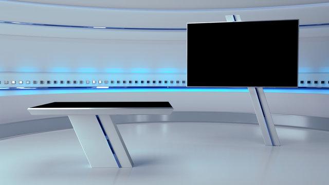 TV Virtual Studio background 3d rendering