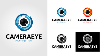 Camera Eye Logo Template Set