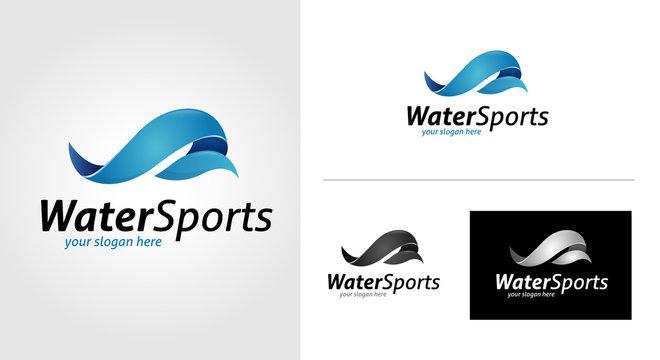 Water Sports Logo Template Set