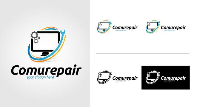 Computer Repair Logo Template Set