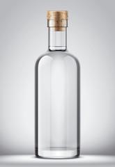 Glass bottle mockup.