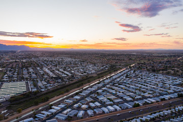 Wall Mural - Aerial photo of Mesa Arizona retirement communities motor homes trailer parks