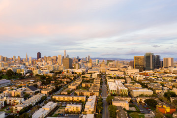 Wall Mural - Aerial drone image of San Francisco California USA