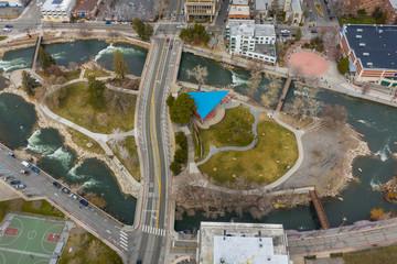 Aerial photo wingfield Park Reno Nevada USA