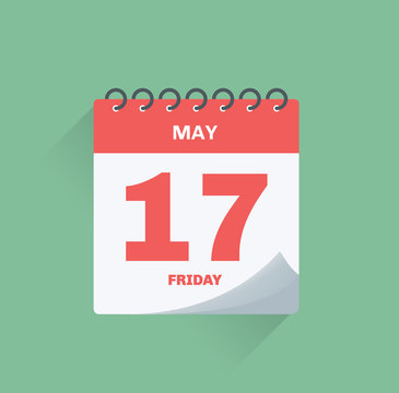 Day calendar with date May 17.