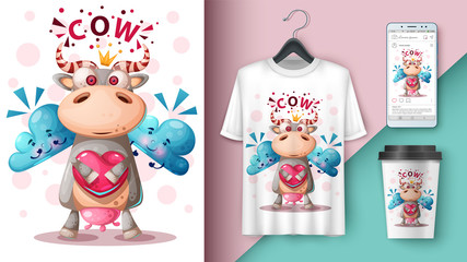 Crazy cow - mockup for your idea