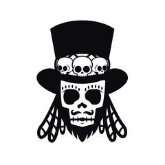 Papa Legba, voodoo man Halloween illustration vector