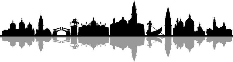 Fototapete - Venedig City Skyline Silhouette