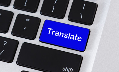 Computer keyboard with Translate text on keypad button