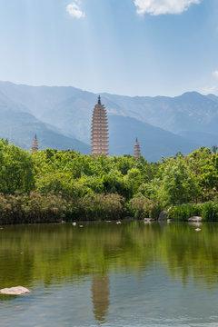 Scenery of Chongsheng Temple, Yunnan Province, China