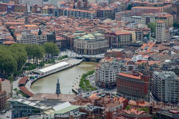 Blick auf die Altstadt von Bilbao.