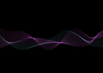 Fototapeten Abstrakte Welle Abstract wave thin curved lines graphic background