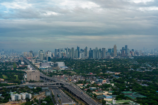 Aerial view of Metro manila skyscrapers