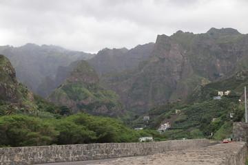 Malerische Landschaft von Ribeira Grande, Santo Antao, Kap Verden