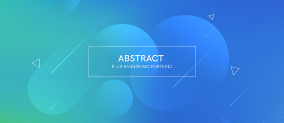 Abstract futurictic banner with a gradient shapes and blur