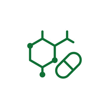 Vitamin, amino acids green icon. Element of vitamin icon. Thin line icon for website design and development, app development. Premium icon