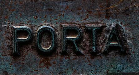Porta Bronzeprägung