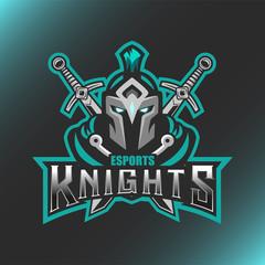 Vector illustration Knight Head logo Esport