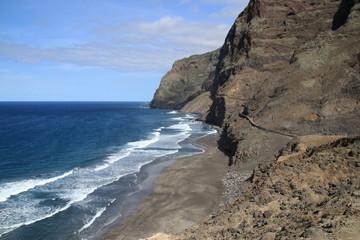 Küstenwanderung auf Santo Antao, Kap Verden, kurz vor Cruzinha