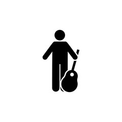 Guitar, man, object icon. Element of man with random object icon. Premium quality graphic design icon. Signs and symbols collection icon for websites, web design