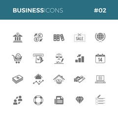 Fototapeta Business icons set #02 obraz