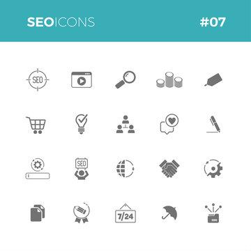 Seo icons set #07