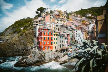 Fototapeta Classic view of Riomaggiore, Cinque Terre, Italy
